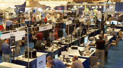 Tradeshow exhibit floor